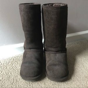 Brown Fuzzy Boots - Size 9